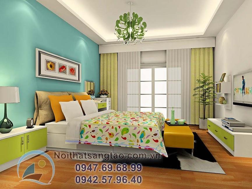 thiết kế phòng ngủ đơn giản nhưng sang trọng