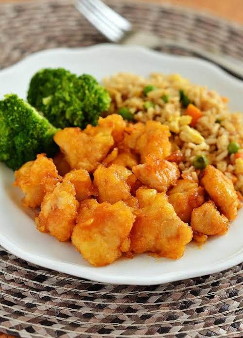 Click Here for Recipe: Baked Sweet and Sour Chicken with Fried Rice...