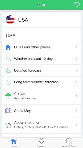 android USA météo prévisions climat Screenshot 0