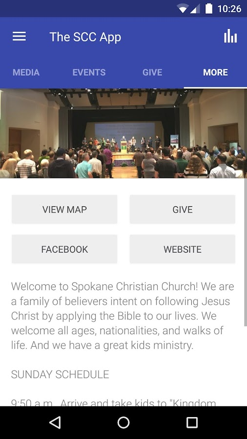 Spokane Christian Church- screenshot