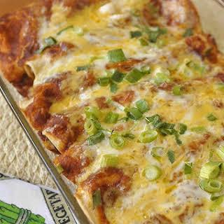 Chicken Enchiladas and Enchilada Sauce.