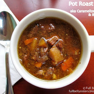 #Crockpot Caramelized Onion & Beef Soup #PotRoastSoup