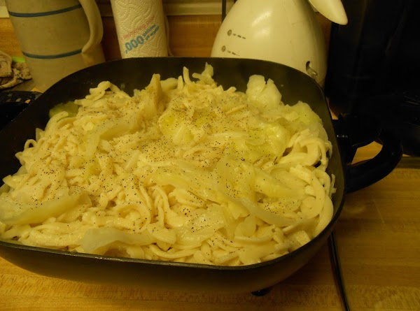 Fry, stirring often, until both cabbage and noodles are golden brown.