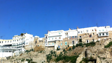Photo: View of Tangier as ferry arrives.  Medina (old town) and Kasbah (citadel and fortress).