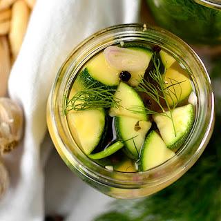 Refrigerator Zucchini Pickles.