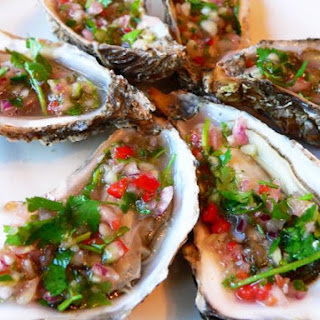 Oysters with Chilli and Coriander