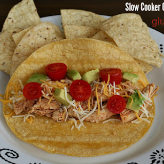 Slow Cooker Chicken for Tacos {Gluten-free}.