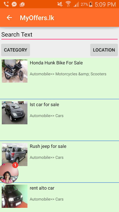 MyOffers.lk Free Classifieds- screenshot