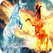 Two horses Live Wallpaper