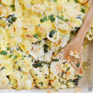 Vegetable Alfredo Pasta Bake