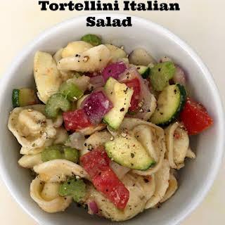 Cheese Stuffed Tortellini Italian Pasta Salad.