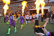 General view of players during the Carling Black Label Cup Match between Kaizer Chiefs and Orlando Pirates on the 27 July 2019 at FNB Stadium, Soweto.