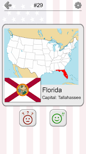 50 US States Map, Capitals & Flags - American Quiz- screenshot thumbnail