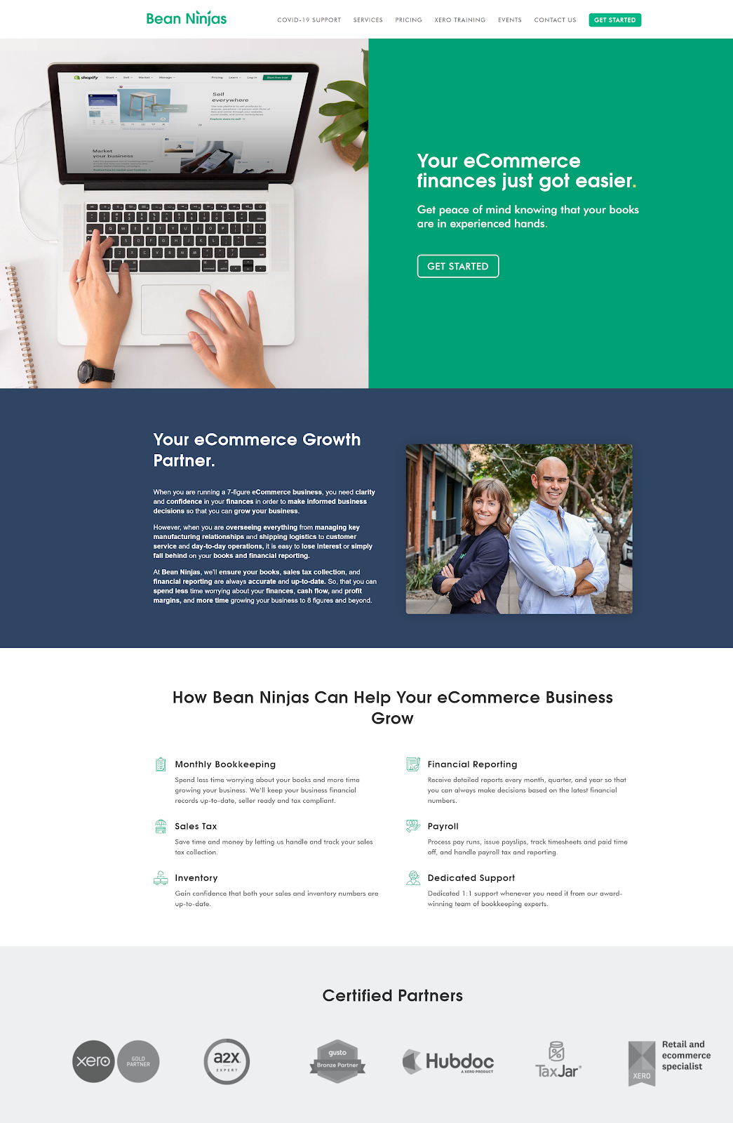 Bean Ninjas' eCommerce growth packages