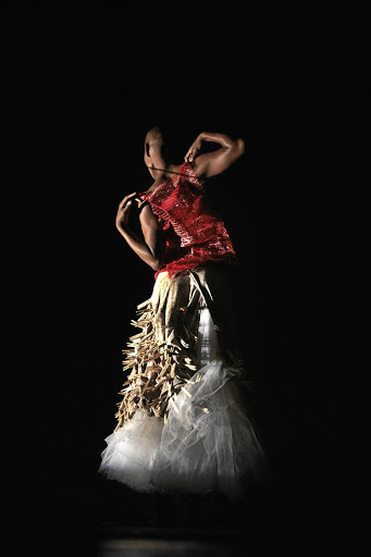 Making a statement: Mamela Nyamza in Hatched, which has been performed around the world. Her teenage son, Amkele Mandla, will again join her on stage in this piece. Picture: JOHN HOGG