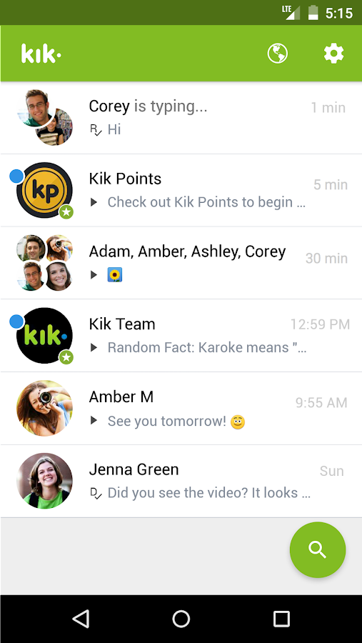 Kik- screenshot