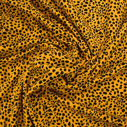 Leopard Bomullstrikå - gul