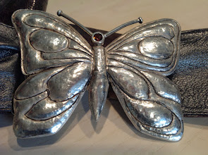 Photo: Tanja. zilveren gesp met citrien en lederen centuur
