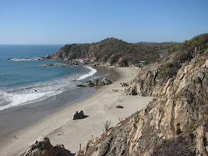 Photo: Same beach looking the other way.