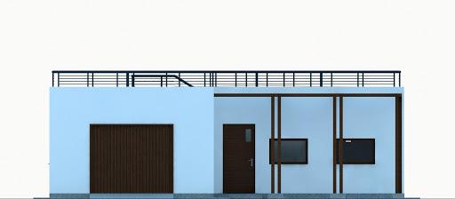 G353 - Budynek garażowo-gospodarczy - Elewacja przednia