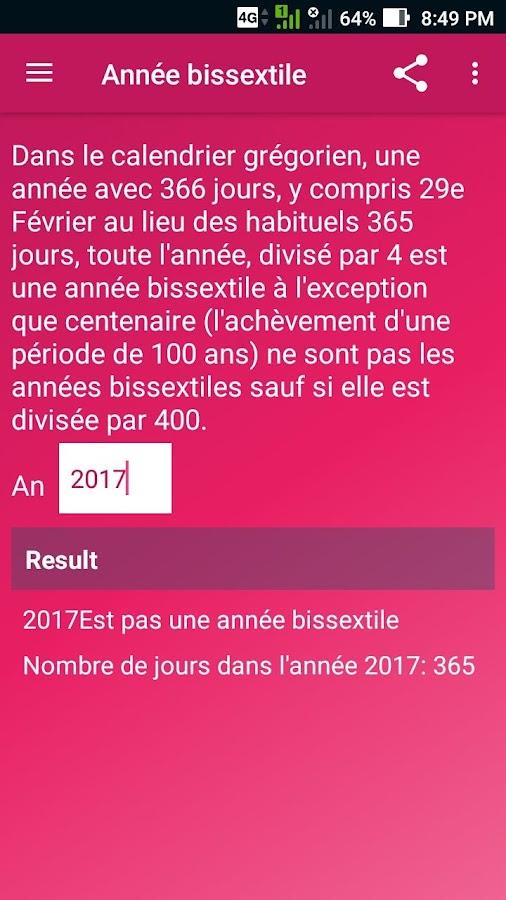 annee bissextile 2017