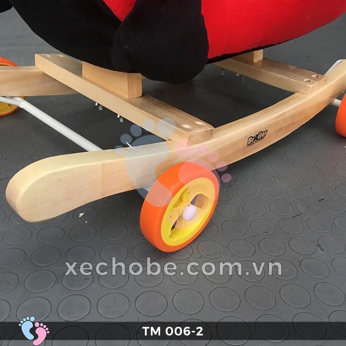 Thú bập bênh cho bé TM006-2 có bánh xe 10