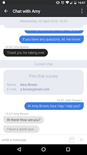 LiveChat for Android- screenshot thumbnail