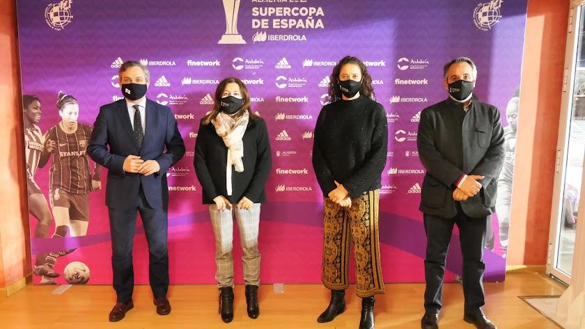 Ángel Escobar, María del Carmen Castillo, Isabel Sánchez y Juanjo Segura.
