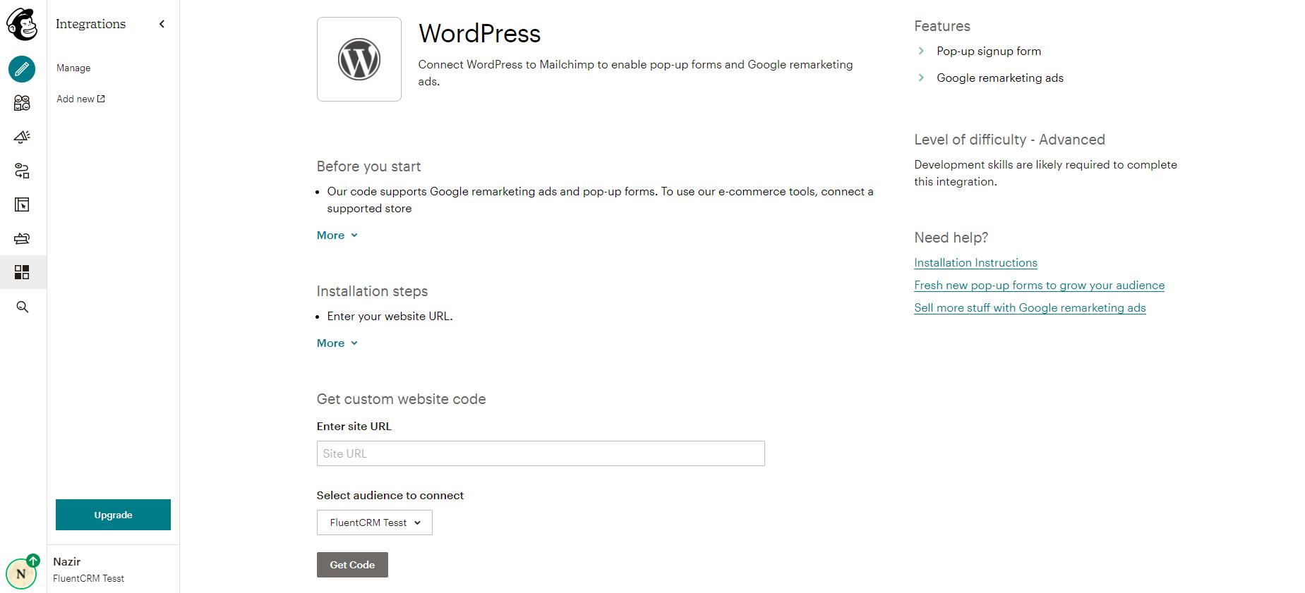 mailchimp, mailchimp for wordpress, mailchimp wordpress integration