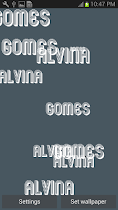 My Name Live Wallpaper - screenshot thumbnail 02