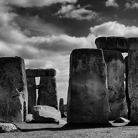 Stonehenge, Wiltshire, UK by Steve Corcoran - Buildings & Architecture Statues & Monuments ( history, blackandwhite, ancient, b&w, stonehenge, black and white, stone, monument, b and w solstice, wiltshire, circle, heritage )