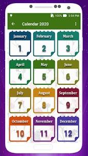 Calendar 2020 with Holidays 1.10 Mod APK Download 1