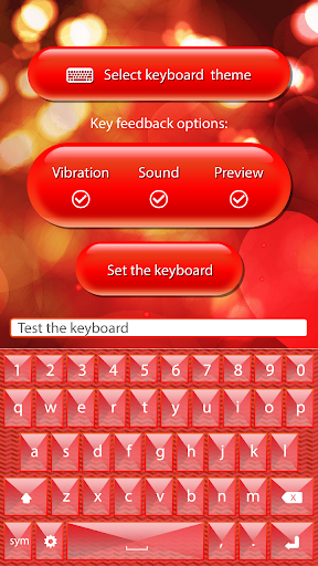 Red Keyboard Color