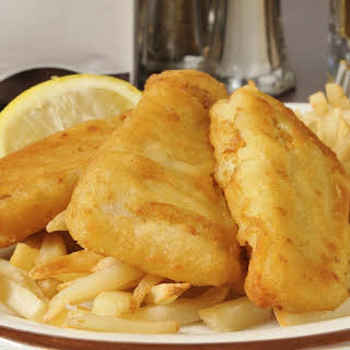 Bisquick® Beer Battered Pollock Fish n Chips.