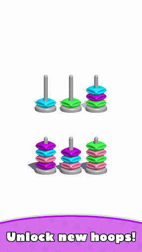 Sort Hoop Stack Color - 3D Color Sort Puzzle  screenshots 9