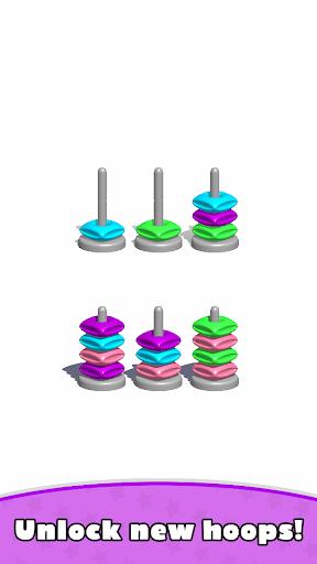 Sort Hoop Stack Color - 3D Color Sort Puzzle android2mod screenshots 9