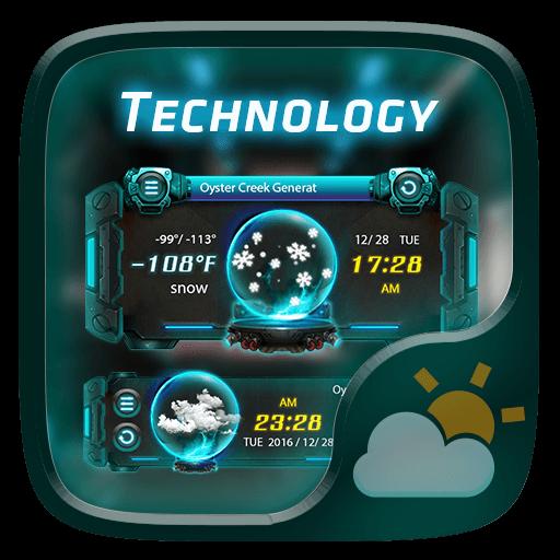 Technology GO Weather Widget Theme