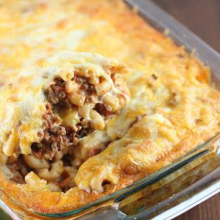Beef Macaroni Casserole.