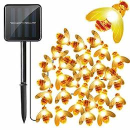 Instalatie solara cu 50 albinute LED, interior-exterior, senzor miscare