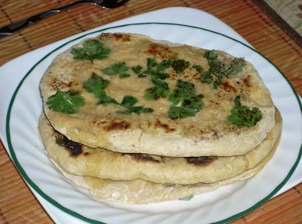 Yeast Free Garlic Naan Recipe