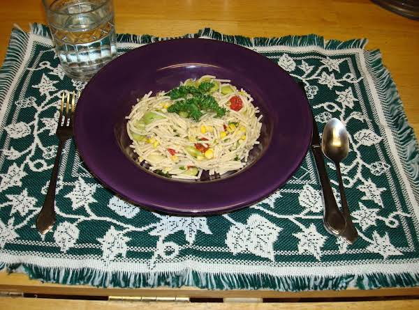 Pasta With Corn And Lima Beans Recipe
