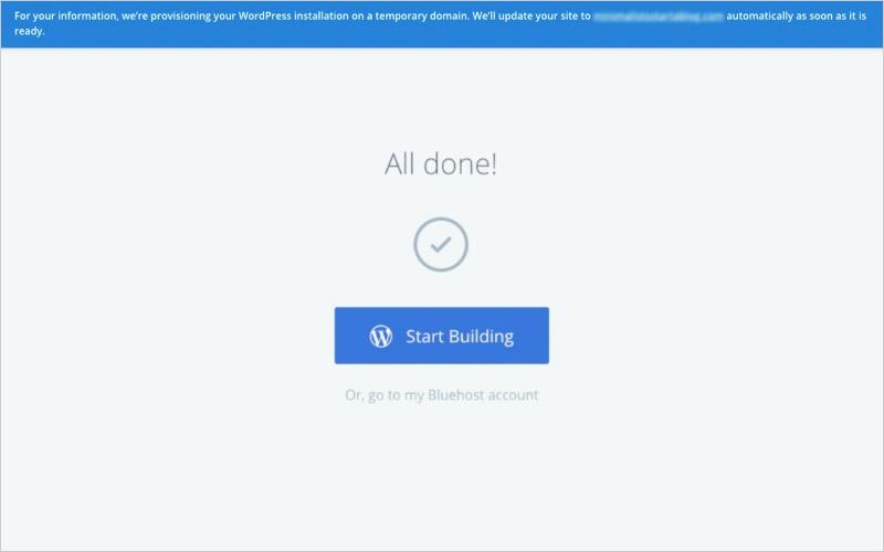 Como crear un Blog  Paso 2: haga clic en Iniciar construcción
