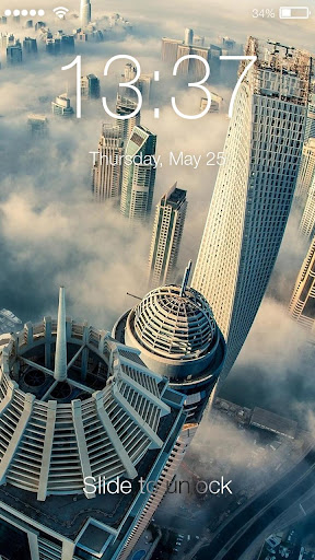 Dubai City Of Gold Lock Screen screenshot 1