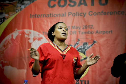 Cosatu, whose president is Zingiswa Losi, pictured, has warned the ANC to consult with it before making major decisions.