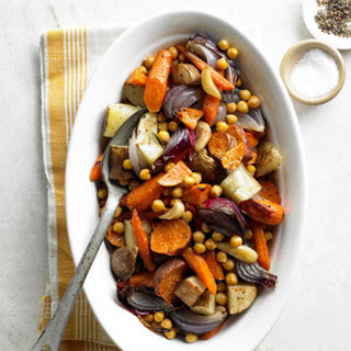 Roasted Vegetables and Chickpeas