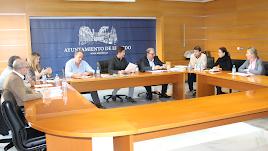 Miembros de la Junta de Gobierno reunidos.