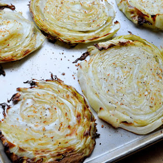 Oven Roasted Cabbage Steaks.