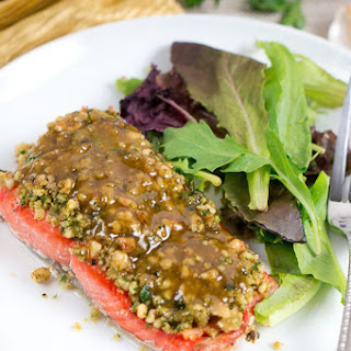 Maple Walnut Crusted Salmon