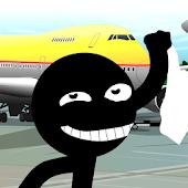 Stickman Bloody Airport