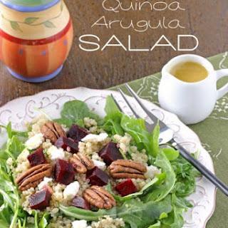 Roasted Beet, Quinoa and Arugula Salad